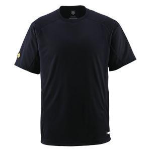 DESCENTE (デサント) 丸首Tシャツ DB200 BLK 1611|runningclub-gh