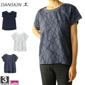Tシャツ ダンスキン DANSKIN レディース DB78314 ALPHADRY ワイドTシャツ 1910 ワイドシルエット ゆうパケット対応|runningclub-gh