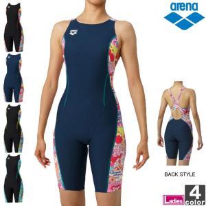 【ゆうパケット対応】《送料無料》アリーナ/arena レディース タフハーフスパッツ DIS-9308W 1902 水着 競泳 runningclub-gh