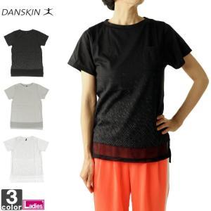 半袖Tシャツ ダンスキン DANSKIN レディース DN77225 ポケットTシャツ 1910 ラメT ゆうパケット対応|runningclub-gh