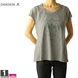 Tシャツ ダンスキン DANSKIN レディース DY77303 ワイドTシャツ 1910 フレンチスリーブ ゆうパケット対応|runningclub-gh