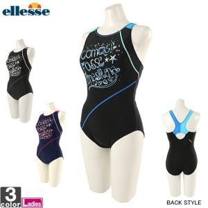 エレッセ/ellesse レディース 水着 プリント ワンピース ES37255 1901 スイムウェア 水泳|runningclub-gh