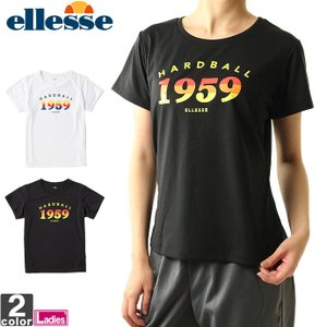 半袖Tシャツ エレッセ  ellesse レディース カラフル ロゴ Tシャツ EW17280 1810 トップス カットソー ゆうパケット対応|runningclub-gh