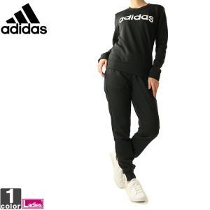 スウェットセットアップ アディダス adidas レディース リニアロゴ スウェット 上下セット FRU58 FRU93 1901 セットアップ|runningclub-gh