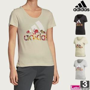 半袖Tシャツ アディダス adidas レディース FSR83 半袖 フラワーTシャツ 1905 ロゴT ゆうパケット対応|runningclub-gh