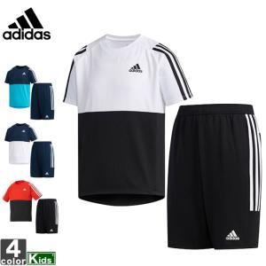 アディダス/adidas ジュニア キッズ ボーイズ Tシャツ 上下セット FTJ70 1903 半袖シャツ ハーフパンツ|runningclub-gh