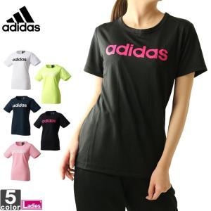 半袖Tシャツ アディダス adidas レディース 半袖 リニア Tシャツ FTK26 1903 ロゴT トップス ゆうパケット対応|runningclub-gh