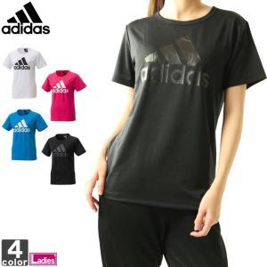 半袖Tシャツ アディダス adidas レディース W MH 半袖 ビッグロゴ Tシャツ FTK28 1903 ロゴT ゆうパケット対応|runningclub-gh