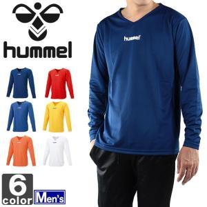 長袖インナー ヒュンメル hummel  メンズ 長袖 Vネック インナー シャツ HAP5140 1509 サッカー フットサル|runningclub-gh