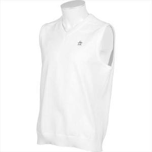 《送料無料》Munsingwear メンズ E-AIRニットベスト MGMPJL81 WH00 2102 男性 マンシングウェア|runningclub-gh