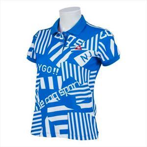 Le coq sportif GOLF レディス スクランブルPT半袖シャツ QGWPJA05 BL00 2102 レディース ルコックゴルフ|runningclub-gh