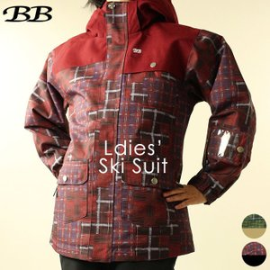 スキーウェア ビービー BB レディース WS-8353 スキースーツ 上下セット 1910 パンツ ジャケット アウター|runningclub-gh