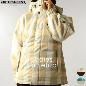 スキーウェア ディフェンダー DIFENDER レディース WX-9541 スキースーツ 上下セット 1911 セットアップ|runningclub-gh