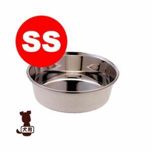 【同梱可】 丈夫で頑丈、サビにくいステンレスの皿型食器。 適度の重さでずれにくい。 犬用、SS。 【...