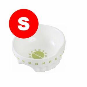 美しく白い陶製の食器。 重量も有り安定している。 後部が高くこぼれにくい構造。 底面滑り止め付き。 ...