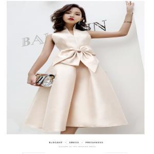 スタンドカラーが大人の感じになるノースリーブのドレス。  Vネックで胸元もスッキリ、シャープな印象に...