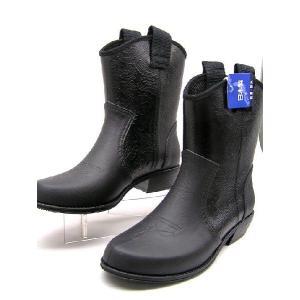 ●お洒落なウエスタンレインブーツ/日本製/800黒/可愛い雨靴/人気のブーツSALE特価!|runrunskip