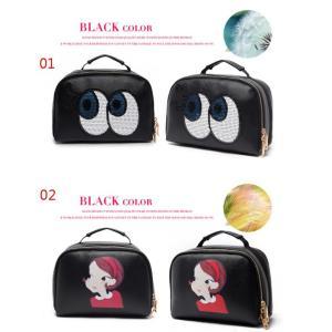 3CE メイクボックス 化粧箱 化粧ポーチ 持ち運び メイクBOX メイクアップ トラベルバッグ 大型 ポータブル|rurubunndo