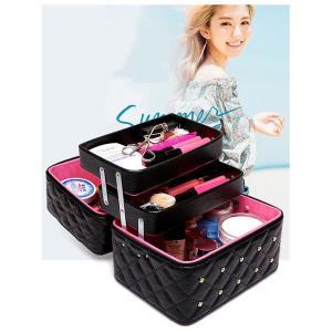 NOMIRRA メイクボックス 化粧箱 化粧ポーチ 鏡付き 持ち運び メイクBOX メイクアップ トラベルバッグ 大型 ポータブル PU|rurubunndo