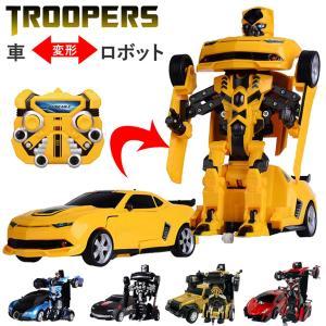 ラジコンカー しゃべる ラジコン ロボット 変形 子供 車 ...