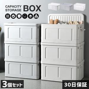 収納ボックス 3セット フタ付き 折りたたみ プラスチック おしゃれ 衣替え 夏物収納 冬物収納 衣...