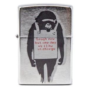 レーザーカラー刻印 #200 バンクシー アート 猿 猿の惑星 送料無料   zippo人気モデル#...