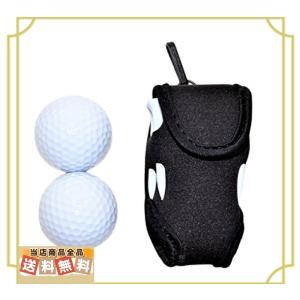 ボール2個付き World Bridge ゴルフボールケース ゴルフポーチ ゴルフボールケース 2個...