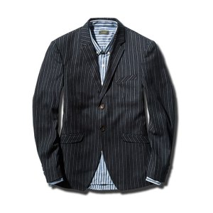 テーラードジャケット メンズ ジャケット ストライプ アウター ブレザー 2ボタン   ■サイズ(C...