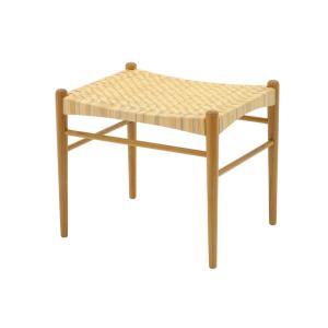 CHLOROSクロロス Rattan スツール【スツール 椅子 北欧家具 デザイン チーク無垢材 チーク材 天然木 おしゃれ シンプル 高品質 おすす|ruskea