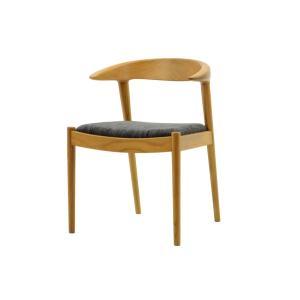 CHLOROSクロロス Goat Horn ハーフアームチェア【ダイニングチェア デスクチェア パソコンチェア 椅子 北欧家具 デザイン チーク無垢材|ruskea