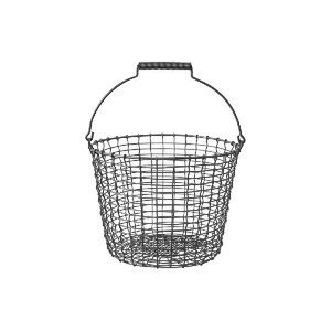 KORBOコルボ ワイヤーバスケット Bucket 16 アシッドプルーフ【北欧雑貨 かご スウェーデン ハンドメイド おしゃれ|ruskea