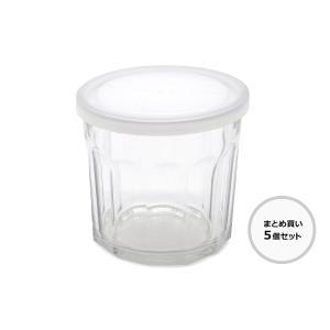 【30%OFF】【在庫限り】【まとめ買い】Bloomingvilleブルーミングヴィル 蓋付きのガラス瓶 5個セット【北欧雑貨 フレンチガラス 容器 キッチン用品】|ruskea