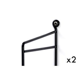 Stringストリング ストリングシェルフ サイドフレーム×2本 ブラック【北欧雑貨 壁掛け 収納 壁掛けシェルフ 家具 棚 リビング雑貨 インテリア|ruskea