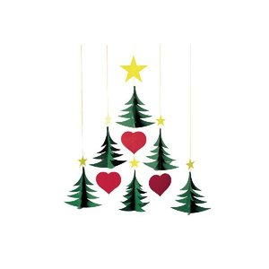 FLENSTED mobilesフレンステッドモビール 北欧デンマークモビール Christmas Trees 6 クリスマスツリー【北欧雑貨 インテ|ruskea