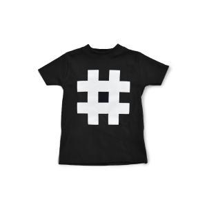 Nor-Folk イギリス製 子供服/キッズ Tシャツ 'Hashtag' ギフトやお祝いにも【モノトーン おしゃれ 親子 お揃い プレゼント】 ruskea