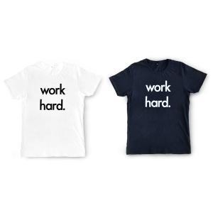 Nor-Folk イギリス製 ユニセックス Tシャツ 'Work Hard' ギフトやお祝いにも【モノトーン おしゃれ 親子 お揃い プレゼント】 ruskea