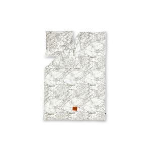 ferm LIVINGファームリビング オーガニックコットンの大人用ベッドリネン枕カバーセット Marble【北欧雑貨 デンマーク おしゃれ ベッドリ|ruskea