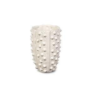 Broste Copenhagen 陶磁器のベース Sサイズ 高さ15c m【北欧雑貨 デンマーク 花瓶 リビング雑貨 置物 おしゃれ モノトーン】 ruskea