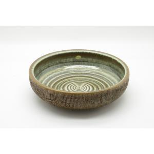SOHOLM 北欧ビンテージ 陶器の深めのプレート 直径30cm【アンティーク デンマーク製 パスタ皿 サラダプレート プランター オブジェ おしゃれ|ruskea