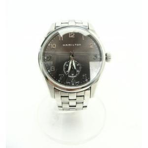 時計 ステンレス メタリック シルバー グレー 美品 H384110 ビジネス
