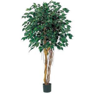 人工観葉植物 150cm フィカスツリー(ナチュラルトランク) [LETR7475]|ryoccadou