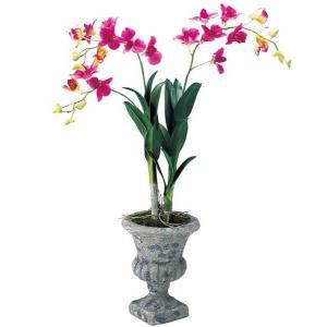人工観葉植物 鉢花 デンドロビウムポット 造花 フラワー [FLGD7629]|ryoccadou