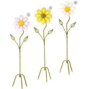 店舗装飾 デイジーフラワースタンド 造花 フラワー 人工観葉植物[DIWI11013]|ryoccadou