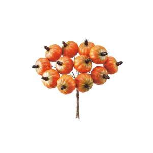 ハロウィン装飾 HALLOWEEN 50mm パンプキン(12本/ワイヤー付き)[PAFV7775]|ryoccadou