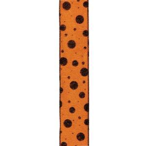 ハロウィン装飾 HALLOWEEN 65mm幅 シャイニーハロウィンリボン[PARI5959]|ryoccadou