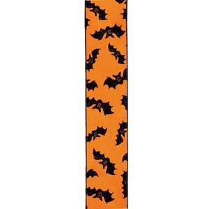 ハロウィン装飾 HALLOWEEN 65mm幅 ベルベットハロウィンリボン[PARI5960]|ryoccadou