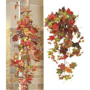 オータム リーフ 造花 メープルブッシュ(155)フラワー 人工観葉植物[LEBU5625]|ryoccadou