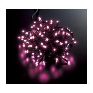 耐水100球広角型ネオLEDピンクライト/ブラックコード常点...