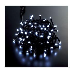 耐水100球広角型スーパーLEDホワイトライト/ブラックコー...