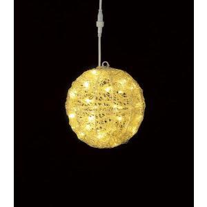 耐水20cm40球広角型LEDシャンペーングロー立体ボール/...